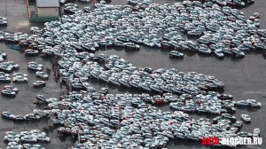 Уничтоженные новые автомобили