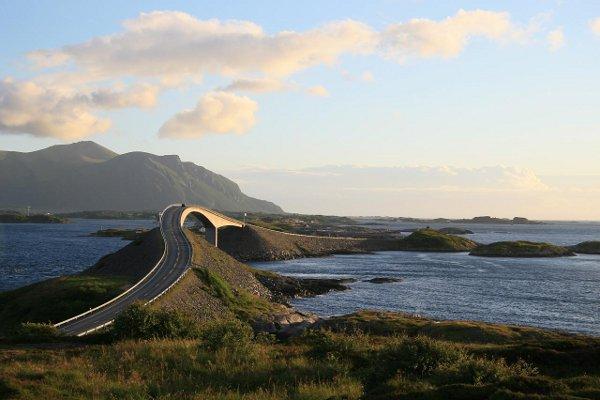 Атлантический океан. ДОРОГА  в Норвегии. рис2.