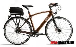 Деревянный велосипед AUDI