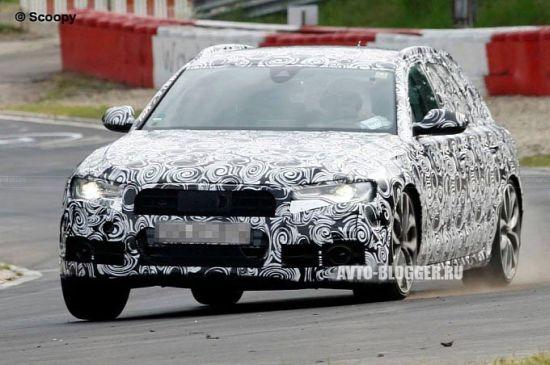 Audi s6 Avant на треке