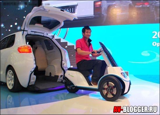 Электрический мотоцикл Geely