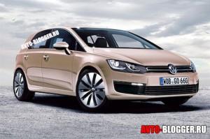 Новый Volkswagen Golf 2012 года. Примерное изображение.