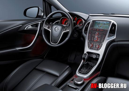 Салон нового Opel