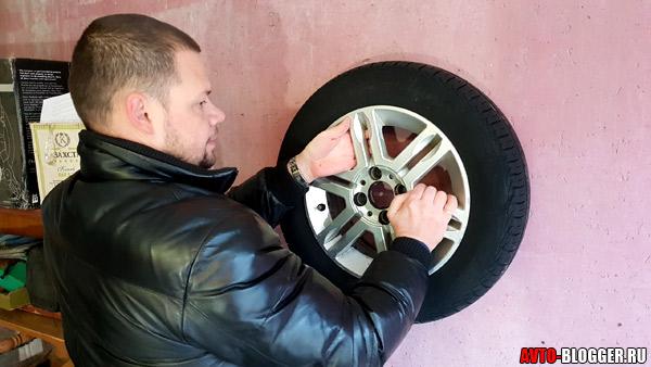 Подвешиваем шины