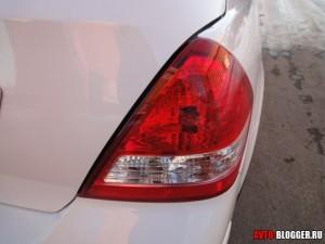 Nissan Tiida, задние фонари, фото 2