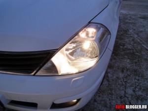 Nissan Tiida, передние фары, фото 4