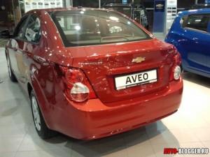 Chevrolet AVEO 2012, задняя часть