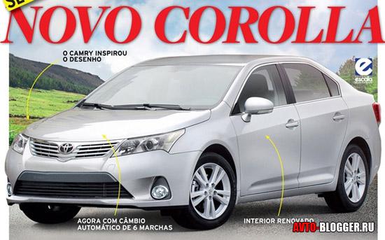 кузов Toyota corolla 2013