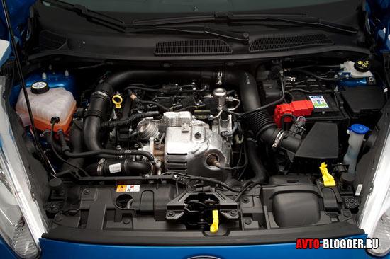 Новый Ford Fiesta двигатель