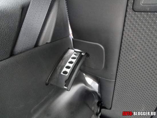 регулировка заднего сидения по наклону