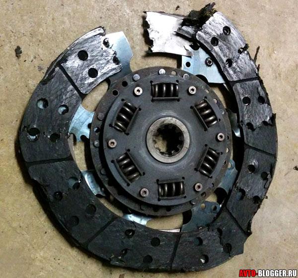 Сломало диск сцепления