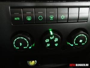 УАЗ Патриот новая панель, управление климатической системой, фото 2