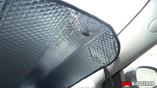 Установленная защита на лобовое стекло