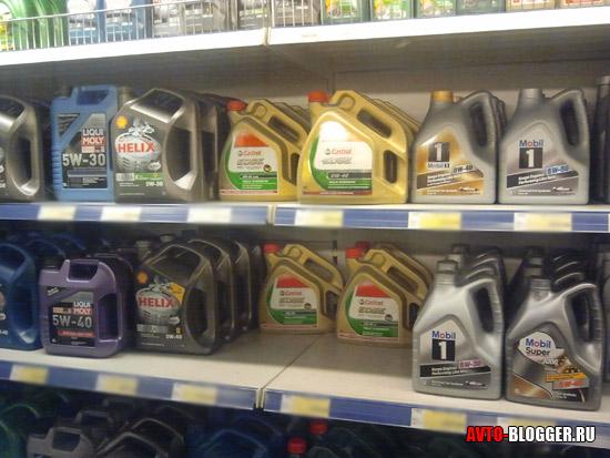 Где лучше покупать моторное масло