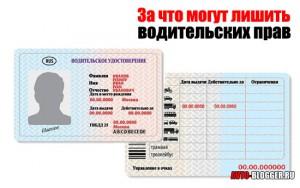 За что могут лишить водительских прав