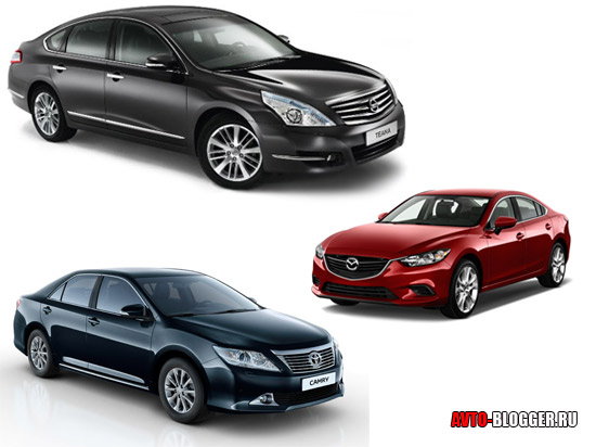 Nissan Teana, Toyota Camry или Mazda 6