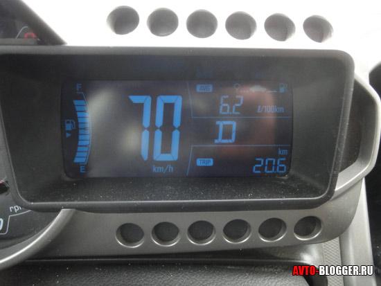 Расход - 6,2 литра, трасса, оптимальный режим
