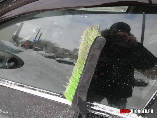 Очищаем стекла