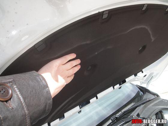 утеплитель - шумоизоляция двигателя