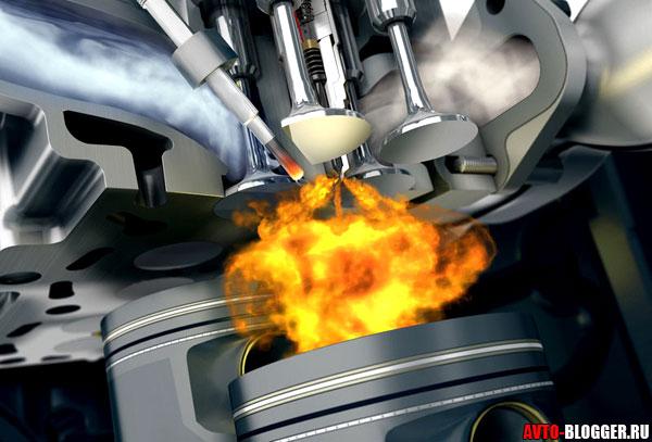 горение бензина