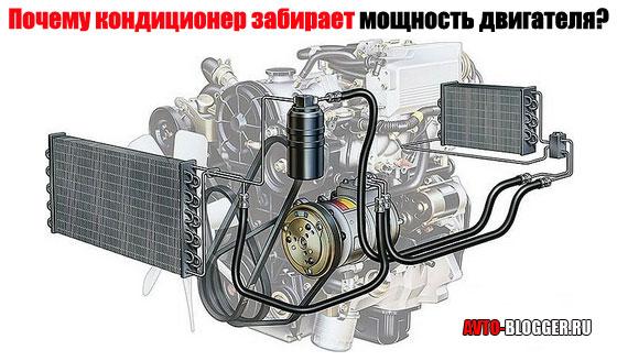 Почему кондиционер забирает мощность двигателя