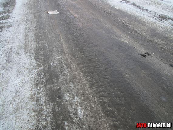 опасная ледяная дорога