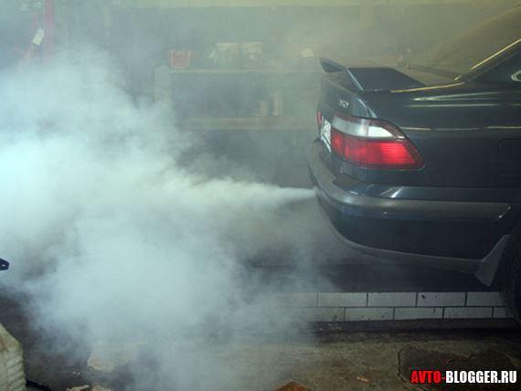 густой дым