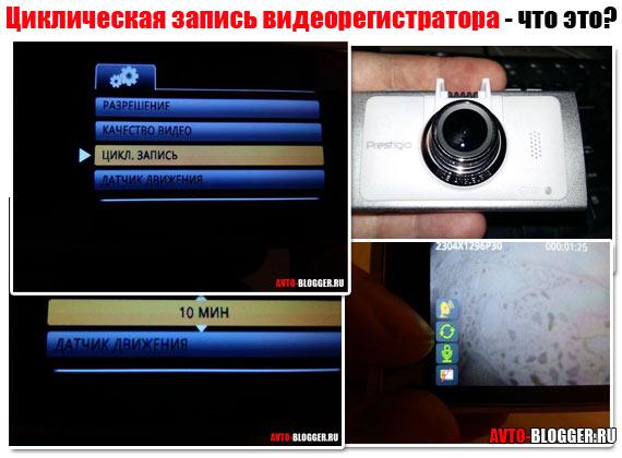 Циклическая запись видеорегистратора