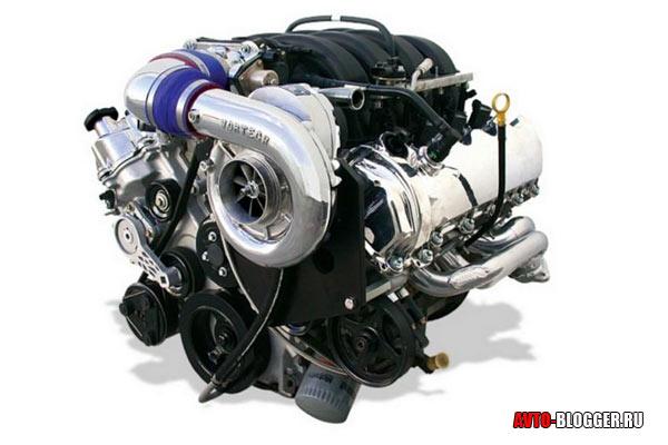Двигатель с компрессором