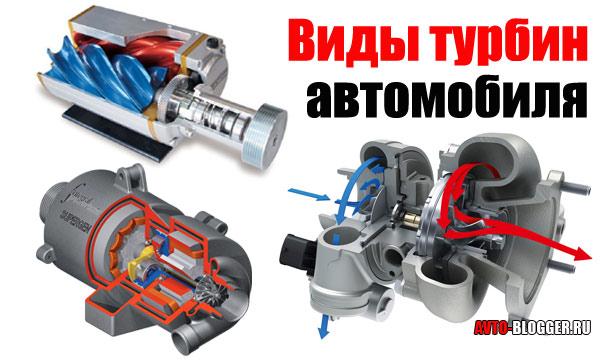 Виды (типы) турбин автомобиля