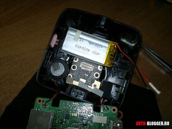 батарея видеорегистратора