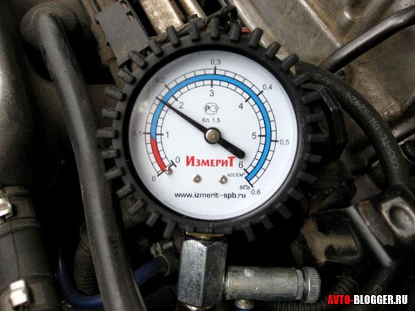 измерение давление масла