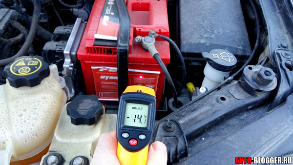 температура аккумулятора