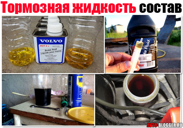 Тормозная жидкость состав