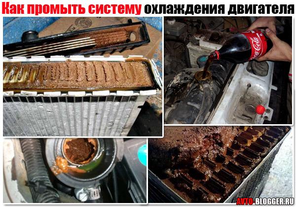 Промыть радиатор автомобиля