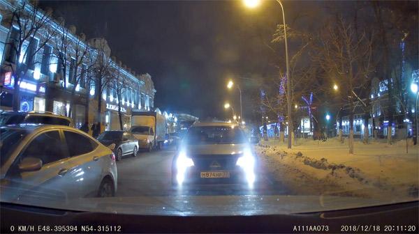 Задняя камера ночь