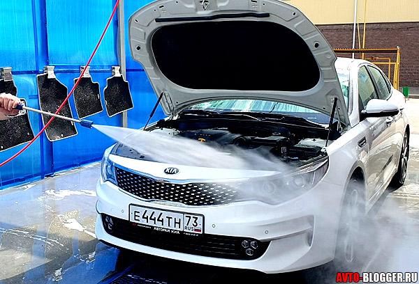 Нельзя мыть двигатель Керхером