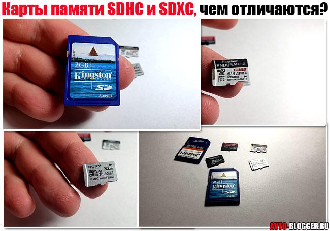 Карты памяти SDHC и SDXC