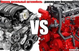 Почему дизельный автомобиль , дороже чем бензиновая версия