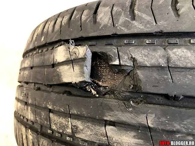 Потрескалась шина