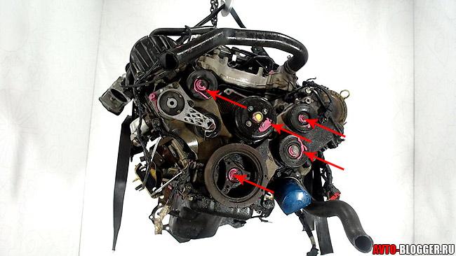 Пломбы на двигателе
