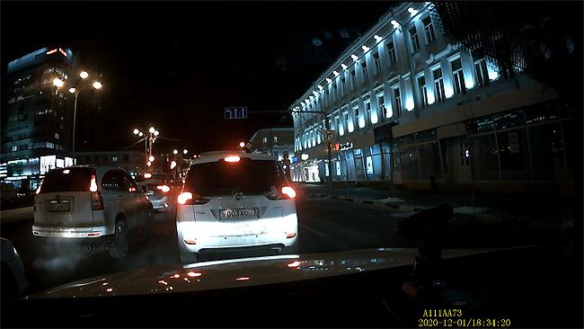 Передняя камера - ночь